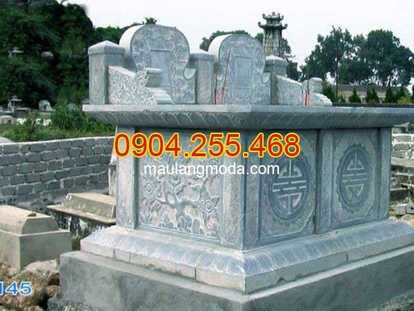 Mộ đá đôi nguyên khối đẹp thiết kế đơn giản chất lượng tốt giá rẻ