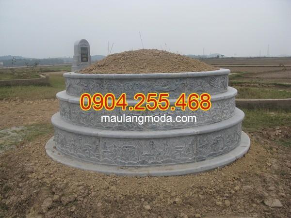 Mộ đá tròn - Hình ảnh mộ đá tròn nguyên khối đẹp nhất 2019 - 02