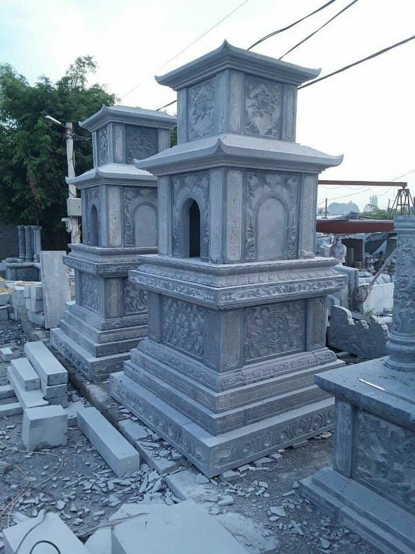 Mộ tháp đá là gì? Ý nghĩa, ưu điểm, giá bán mộ tháp đá xanh