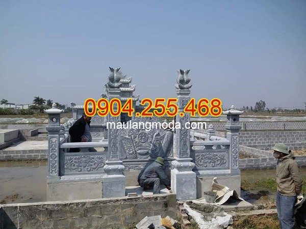 Làm cột đá nhà thờ họ ở Hà Nội - Giá bán cột đá tự nhiên tại Hà Nội