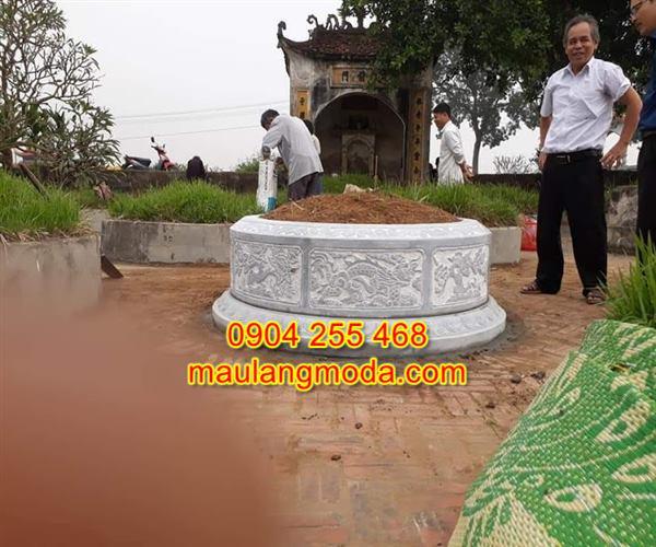Mẫu mộ đá tròn đẹp giá rẻ tại Ninh Bình,