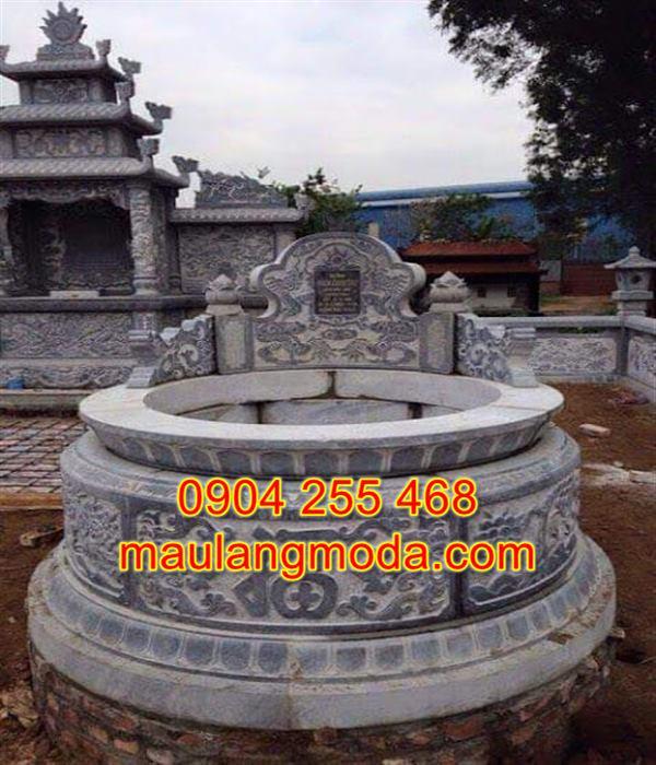 Mẫu mộ hình tròn bằng đá đẹp kích thước lỗ ban