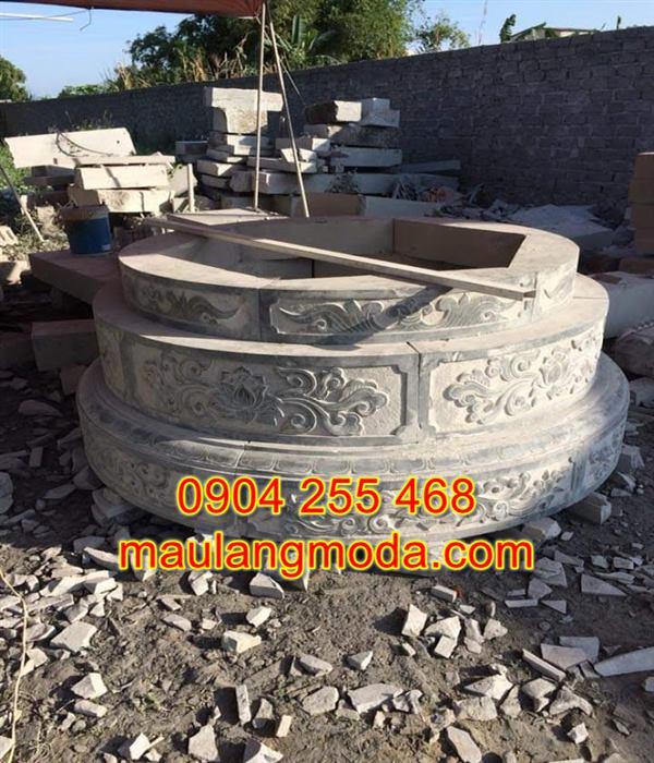 Mẫu mộ hình tròn bằng đá đẹp