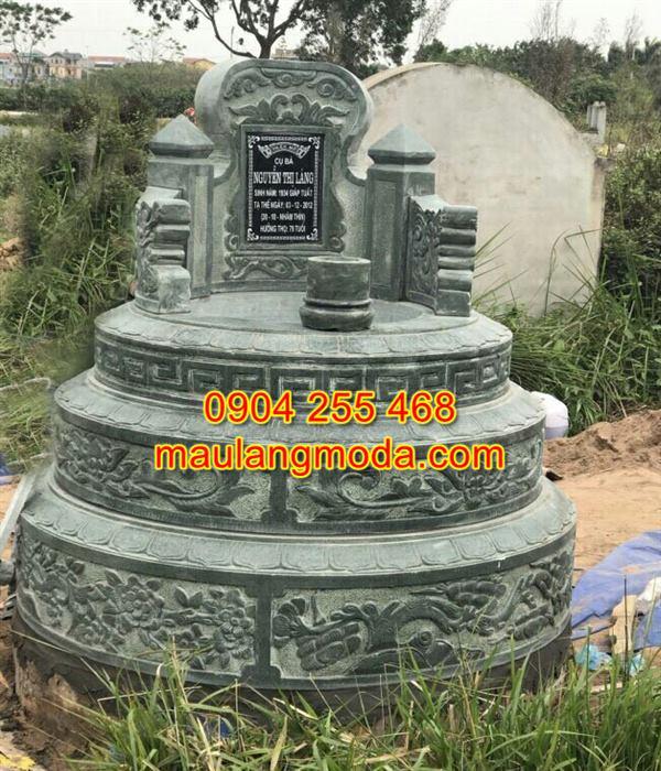 Mẫu mộ tròn đá đẹp kích thước chuẩn phong thủy