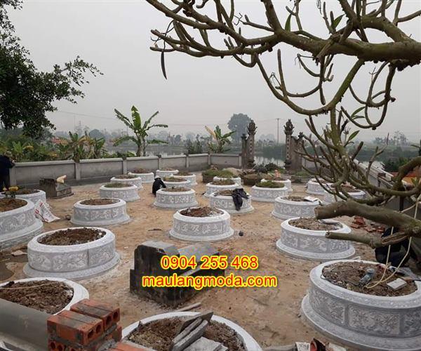 Mẫu mộ tròn đá đẹp kích thước lỗ ban