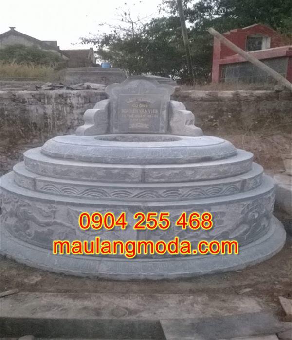 Mộ đá hình tròn đẹp giá rẻ nhất tại Ninh Bình