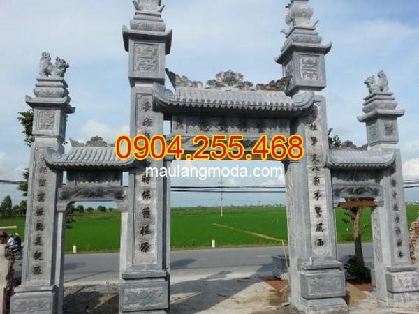 Nhận lắp đặt xây bán cổng tam quan đá đình chùa nhà thờ họ tại Bà Rịa - Vũng Tàu