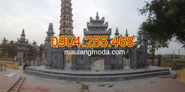 Nhận lắp đặt xây bán cổng tam quan đá đình chùa nhà thờ họ tại Bạc Liêu
