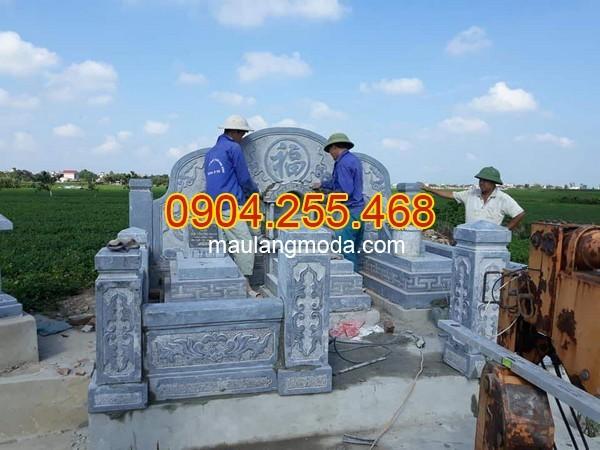 Nhận thi công lắp đặt xây mộ đá tại Bắc Giang