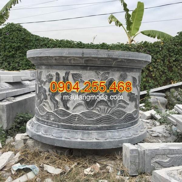 Mẫu mộ đá tròn loại lớn đường kính 3m