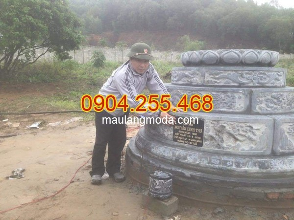 Mẫu mộ tháp đá nhà phật Quảng Ngãi