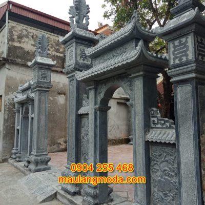 cổng đá nhà thờ họ đẹp đơn giản CD15