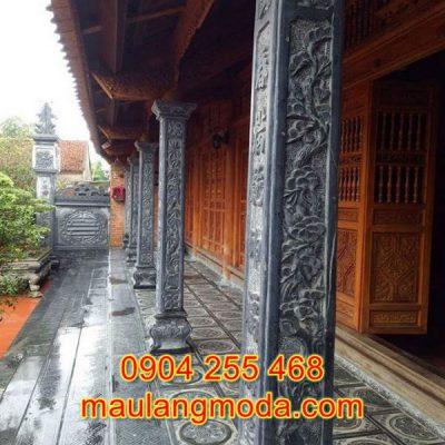 Cột hiên bằng đá đẹp giá rẻ cho nhà thờ họ đình chùa CH1