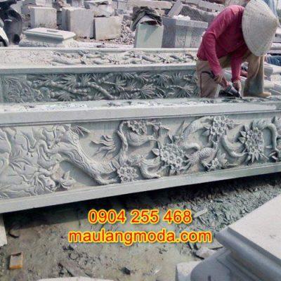 Cột hiên bằng đá đẹp giá rẻ cho nhà thờ họ đình chùa CH3