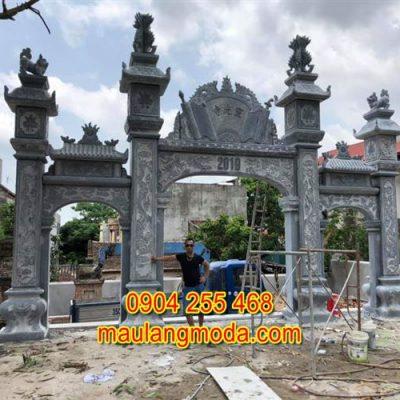 Mẫu cổng chùa đẹp bằng đá xanh tự nhiên 1