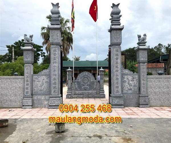 Mẫu cổng chùa đẹp bằng đá xanh tự nhiên 2