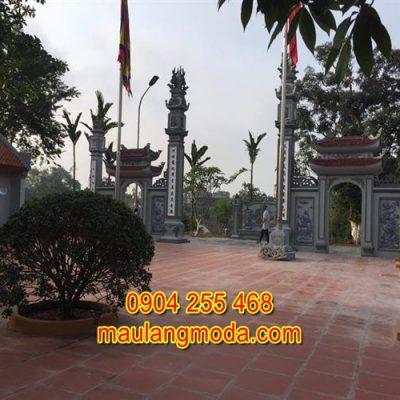 Mẫu cổng chùa đẹp bằng đá xanh tự nhiên 3