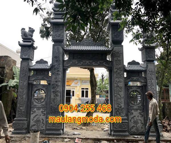 Mẫu cổng chùa đẹp bằng đá xanh tự nhiên 4