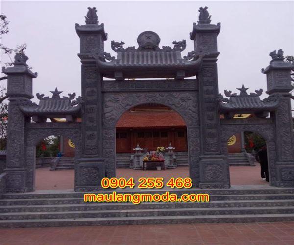 Mẫu cổng chùa đẹp bằng đá xanh tự nhiên 5