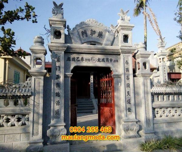Mẫu cổng nhà thờ họ bằng đá tự nhiên CĐ2