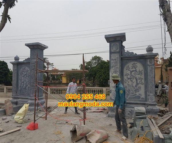 Mẫu cổng nhà thờ họ bằng đá tự nhiên CĐ4