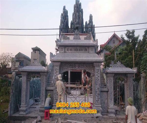Mẫu cổng tam quan đền chùa đẹp bằng đá tự nhiên CD4