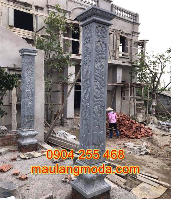 Mẫu cột hiên nhà bằng đá khối đẹp giá tốt 3