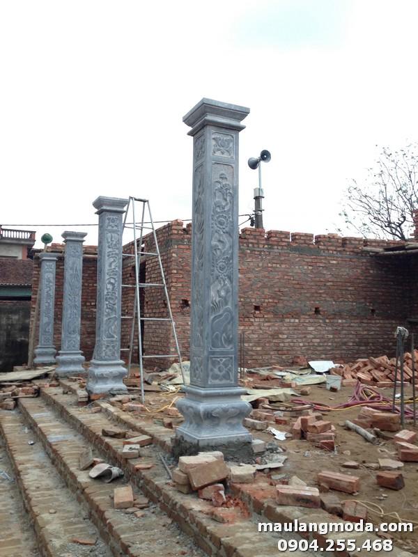 Hình ảnh cột đồng trụ đang xây dựng nhà thờ họ