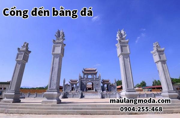 Cổng đền bằng đá - Địa chỉ làm cổng đền đẹp nhất hiện nay