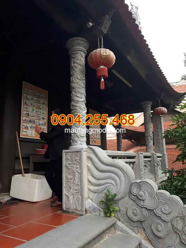 Một số mẫu cột đá đình chùa đẹp nhất 2019