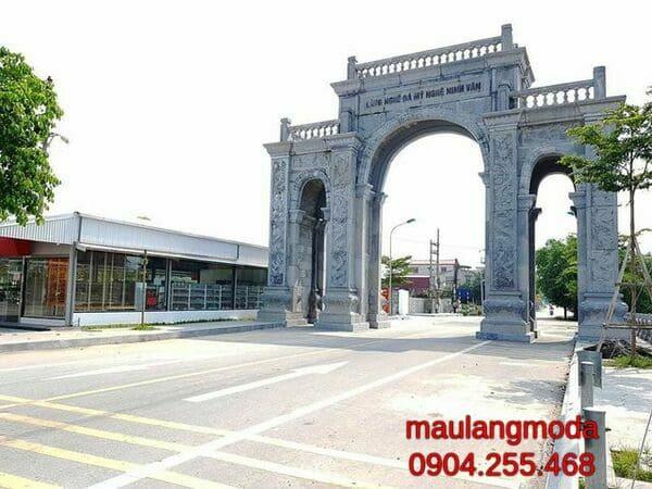 Một số mẫu cổng đá đẹp tại Ninh Vân
