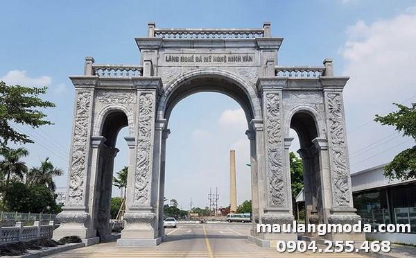 Mẫu cổng làng bằn đá nổi tiếng nhất Việt Nam tại làng Ninh Vân