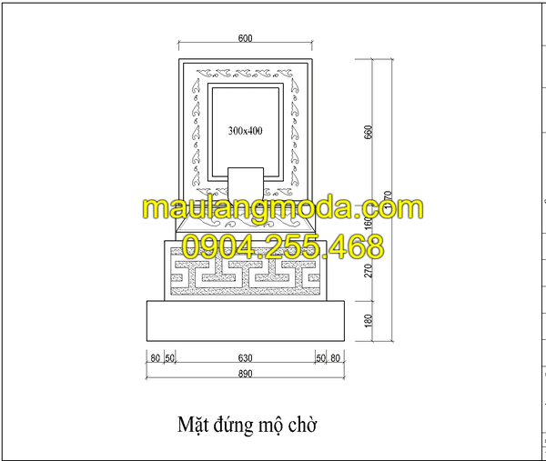 Thiết kế mộ xây theo hình hợp phong thủy nhất