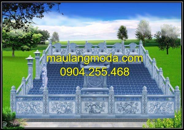Những mẫu bản vẽ mộ xây đẹp chuẩn theo phong thủy