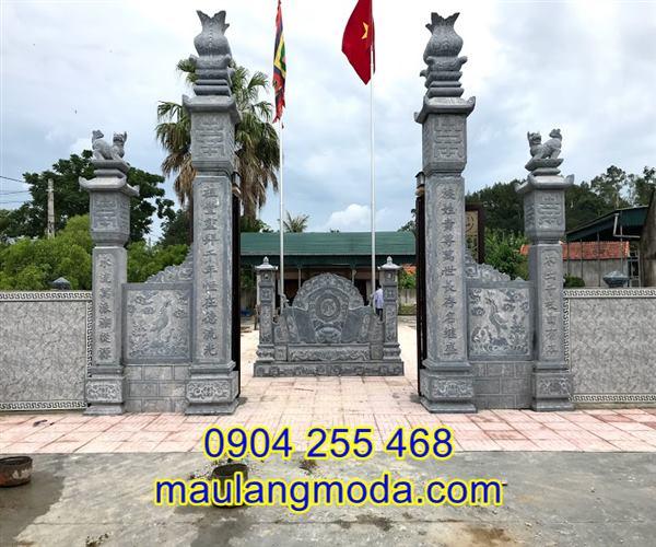 Cổng đền chùa bằng đá tại An Giang, mẫu cổng đá đẹp An Giang