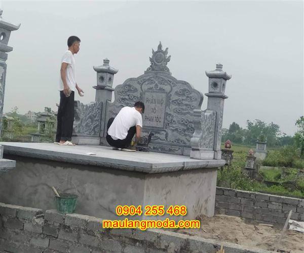 Cuốn thư đá khu lăng mộ đẹp giá hợp lý 04