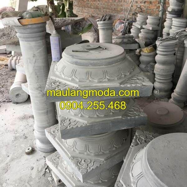 Mẫu chân cột đá nhà thờ họ đẹp nhất Việt Nam