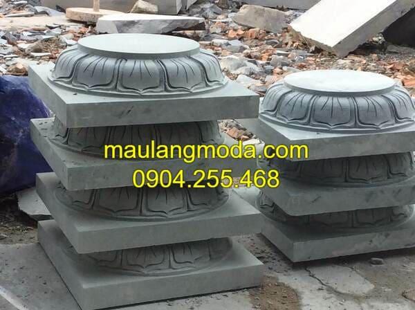 Mẫu chân cột đá nhà thờ họ đẹp nhất Ninh Vân