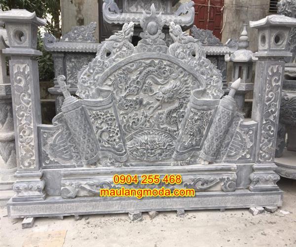 Mẫu Cuốn thư đá nghĩa trang đẹp giá rẻ 02