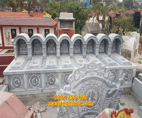Mẫu mộ đôi bằng đá tự nhiên đẹp giá rẻ nhất tại Ninh Bình 01