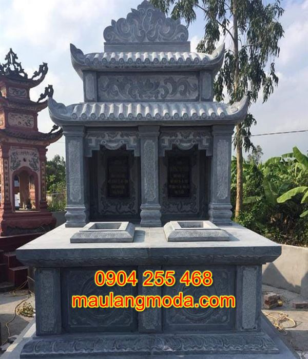 Mẫu mộ đôi bằng đá tự nhiên đẹp giá rẻ nhất tại Ninh Bình 03