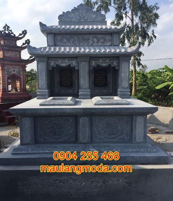 Mẫu mộ đôi bằng đá tự nhiên đẹp giá rẻ nhất tại Ninh Bình 05