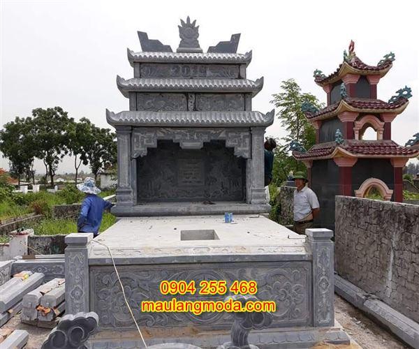 Mẫu mộ đôi bằng đá tự nhiên đẹp giá rẻ nhất tại Ninh Bình