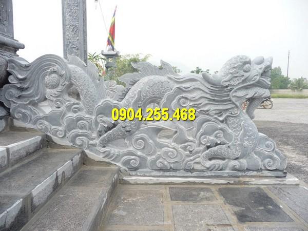 Tượng rồng đá bậc thềm thiết kế tại Đá mỹ nghệ Hà An