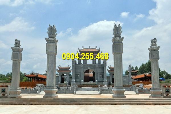 Giá cổng khu lăng mộ đá trong kiến trúc khu lăng mộ đá mỹ nghệ Ninh Vân Ninh Bình