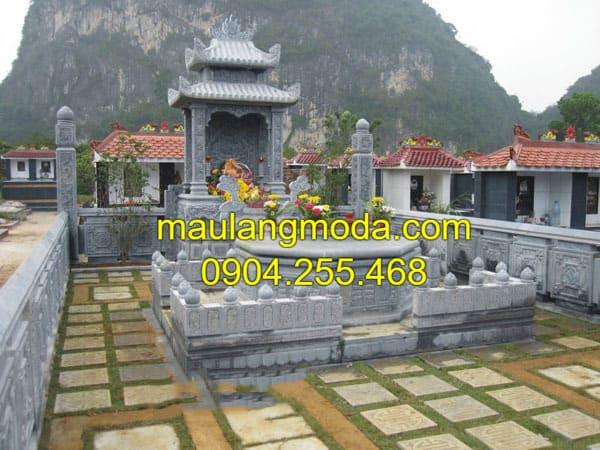 Báo giá lăng mộ đá Ninh Vân - Ninh Bình với hoa văn được chạm khắc tinh xảo