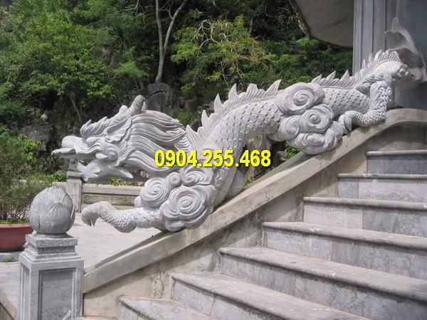 Báo giá tượng rồng đá bậc thềm bằng đá xanh Ninh Bình