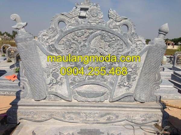 Mẫu cuốn thư khu lăng mộ đá đẹp nhất Ninh Vân