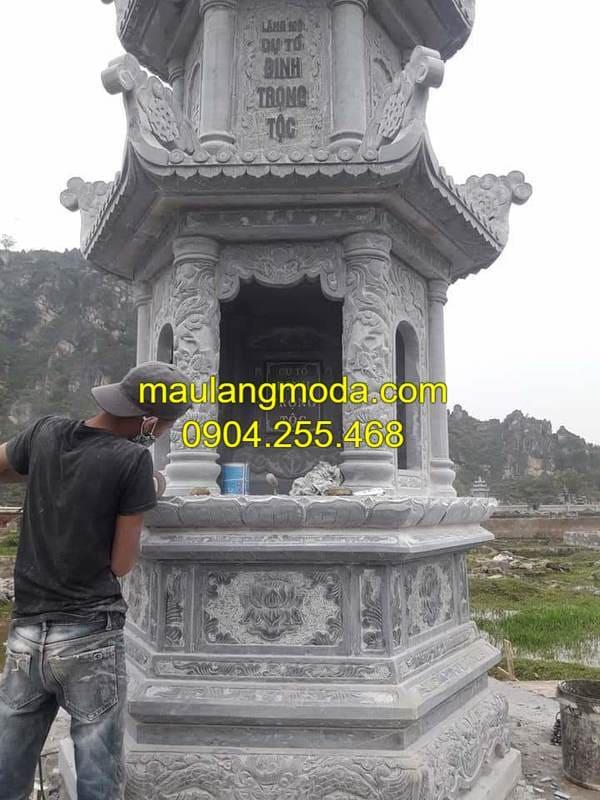 Hình ảnh mộ đá hình lục giác đá đẹp nhất Ninh Vân