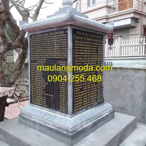 Một số mẫu bia mộ bằng đá đẹp được thiết kế chuẩn phong thủy